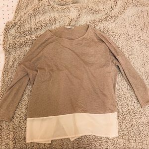 Zara 3/4 sleeve top